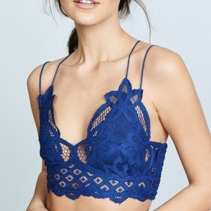 Free People Adella Bralette Embroidered Crop Top